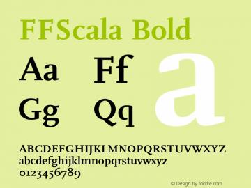 FFScala Bold 001.001 Font Sample