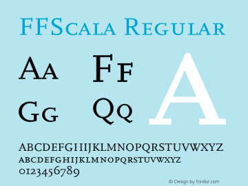 FFScala Regular 001.001 Font Sample