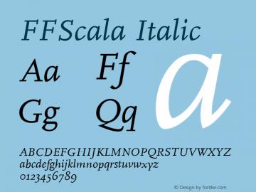 FFScala Italic 001.001 Font Sample