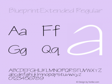 BlueprintExtended Regular Rev. 003.000 Font Sample
