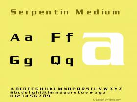 Serpentin Medium 1.000 Font Sample