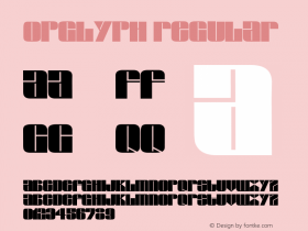 OpGlyph Regular Unknown Font Sample