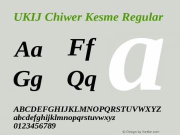 UKIJ Chiwer Kesme Regular Version 3.10 April 8, 2011图片样张