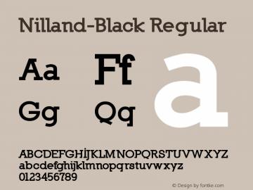 Nilland-Black Regular 1.0 2005-03-11 Font Sample
