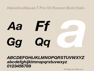 HelveticaNeueLT Pro 55 Roman Bold Italic Version 1.000;PS 001.000;Core 1.0.38 Font Sample