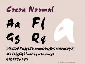 Cocoa Normal Altsys Fontographer 4.1 2/2/95 Font Sample