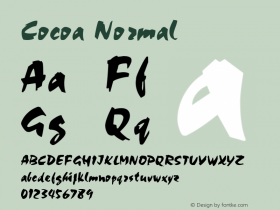 Cocoa Normal Altsys Fontographer 4.1 11/1/95 Font Sample