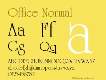 Office Normal 1.0 Mon Sep 19 11:30:35 1994图片样张