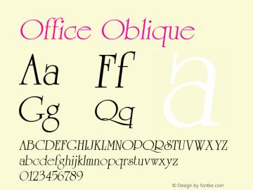 Office Oblique 1.0 Mon Sep 19 11:32:13 1994图片样张