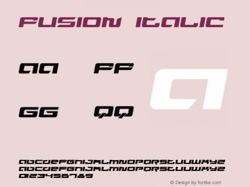 Fusion Italic Version 1.0 Font Sample