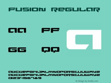 Fusion Regular Version 1.0 Font Sample
