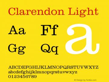 Clarendon Light Version 001.000图片样张