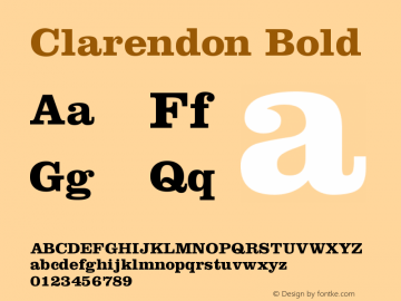 Clarendon Bold Version 001.000图片样张