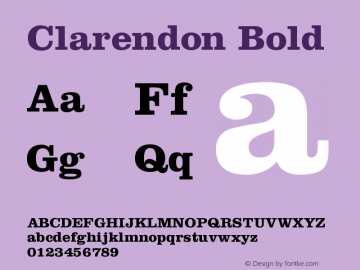 Clarendon Bold Version 001.001图片样张