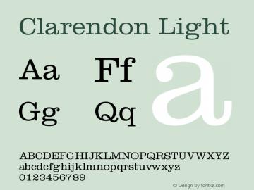 Clarendon Light Version 001.001图片样张