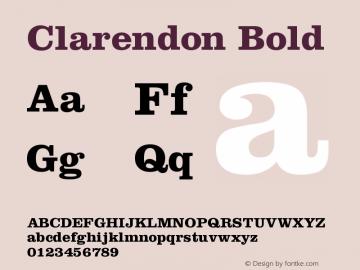 Clarendon Bold Version 001.002图片样张