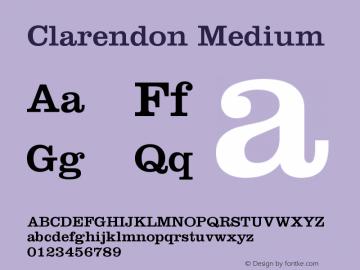 Clarendon Medium Version 001.002图片样张