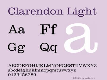 Clarendon Light Version 001.002图片样张
