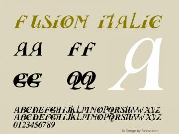 Fusion Italic Fontographer 4.7 16102009 FG4M0000002045 Font Sample