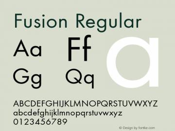 Fusion Regular 3.1 Font Sample