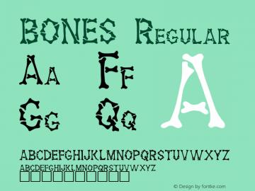 BONES Regular (C) ATTITUDE INC. All Rights Reserved. Font Sample