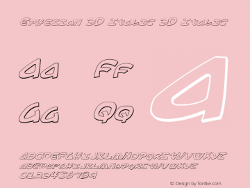 Ephesian 3D Italic 3D Italic Version 1.0; 2007图片样张