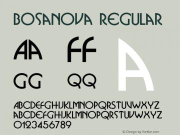 Bosanova Regular Unknown Font Sample