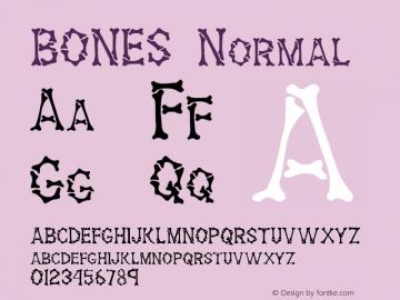 BONES Normal 1.0 Tue Oct 26 16:53:38 1993 Font Sample