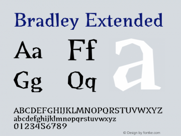 Bradley Extended Version 001.000 Font Sample