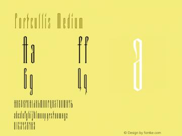 Portcullis Medium Version 001.000图片样张