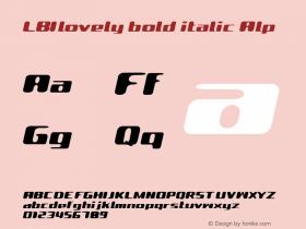LBIlovely bold italic Alp Altsys Fontographer 4.1 98.2.12 Font Sample