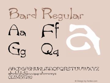 Bard Regular Unknown Font Sample