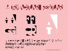 Yurnacular Regular Version 001.000 Font Sample