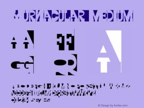 Yurnacular Medium Version 1.00 Font Sample