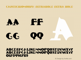 CausticBiomorph-ExtraBold Extra Bold Version 1.00 Font Sample