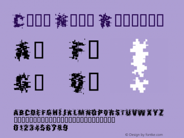 Crux Nine Regular Unknown Font Sample