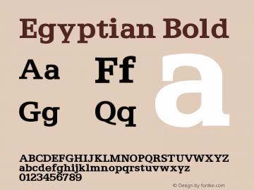 Egyptian Bold Version 001.000 Font Sample