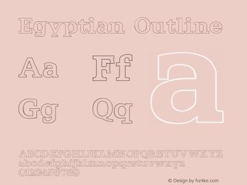 Egyptian Outline Version 001.000 Font Sample