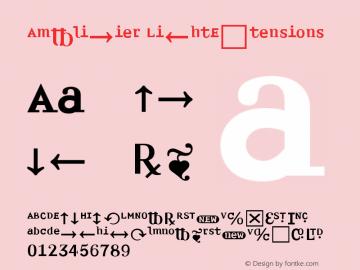 Amplifier LightExtensions Version 001.000 Font Sample