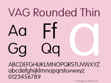 VAG Rounded Thin Version 001.001图片样张