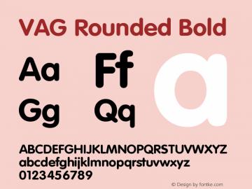 VAG Rounded Bold Version 001.001图片样张