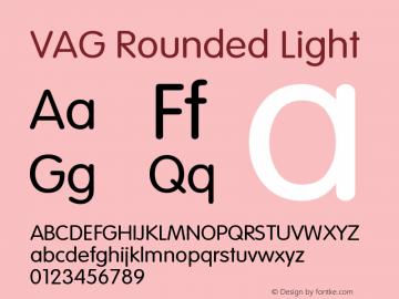 VAG Rounded Light Version 001.001图片样张