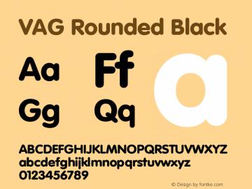 VAG Rounded Black Version 001.001图片样张