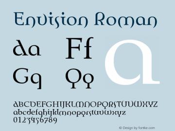 Envision Roman Version 001.000 Font Sample