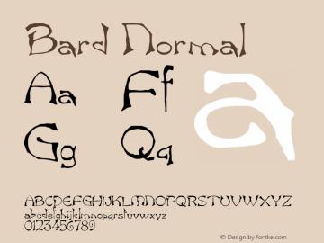 Bard Normal Version 1.0 Font Sample