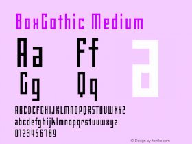 BoxGothic Medium Version 001.000图片样张