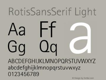 RotisSansSerif Light Version 001.000 Font Sample