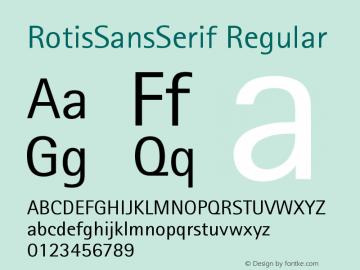 RotisSansSerif Regular Version 001.000 Font Sample