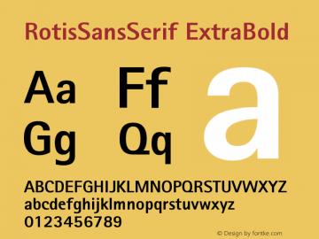 RotisSansSerif ExtraBold Version 001.000 Font Sample