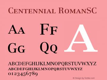 Centennial RomanSC Version 001.000图片样张